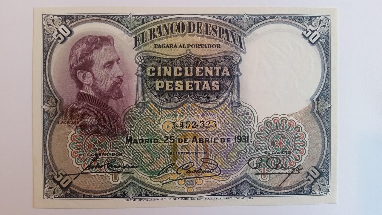Colección de billetes españoles, sin serie o serie A de Sefcor pendientes de graduar 20161217_121025