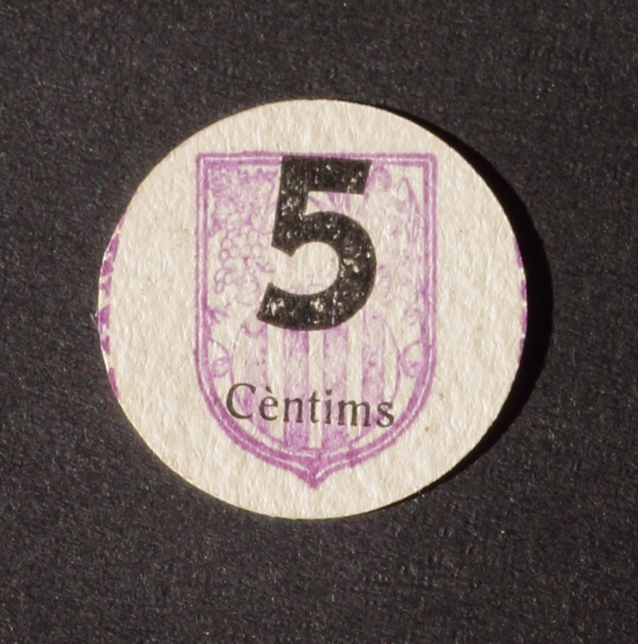 5 Céntimos La Fatarella, 1937 IMG_2857