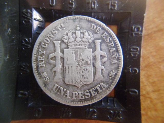 I aniversario numismario: 1 peseta alfonso XII 1883  P1100941