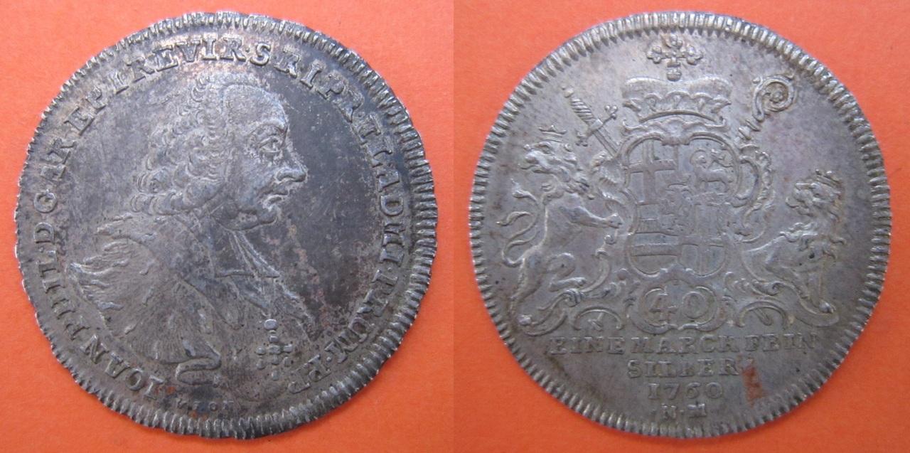 30 kreutzer 1754. Trier o Treveris. 30_kreuzer_1760_Trier