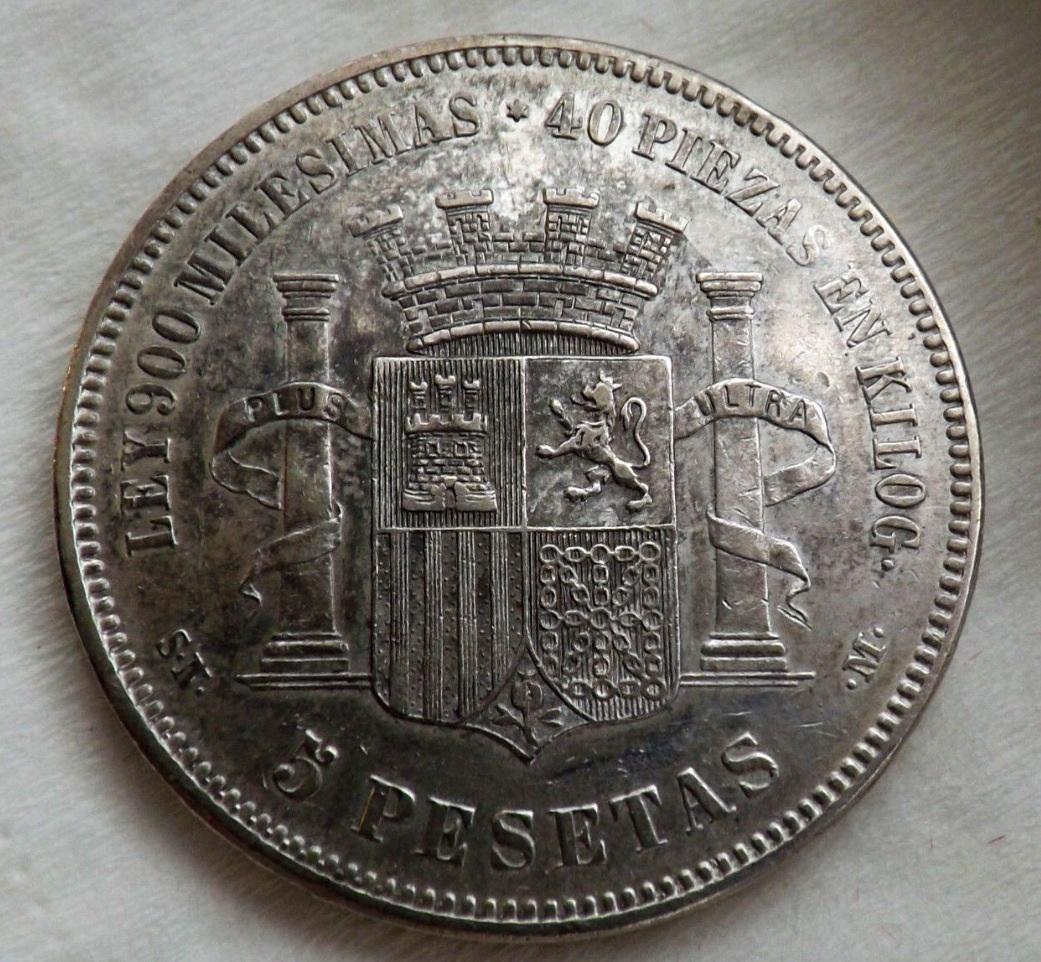5 pesetas gobierno provisional  Image