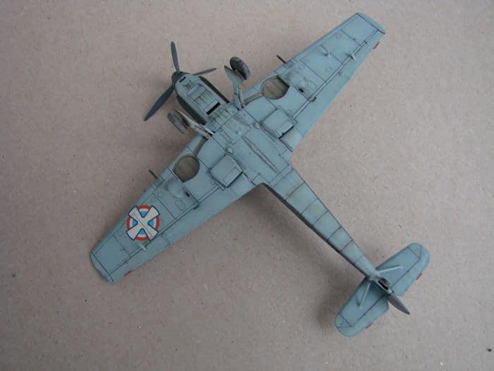 Bf-109E-3VVKJ, Tamiya, 1/72 DSC03074