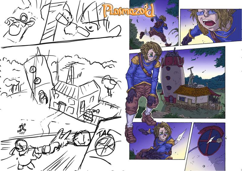 Plasmazoid - Webcomic - Estudo de Personagens, Rascunhos ... - Página 3 Plasmazoid_01_01