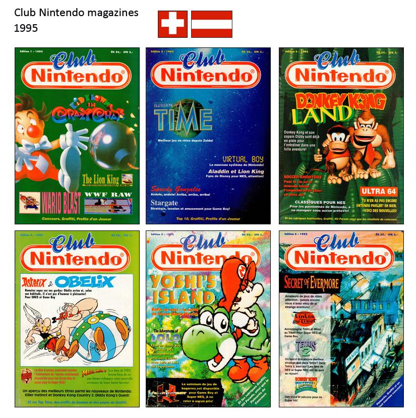 """Magazine """"Club Nintendo"""" 1995_Suisse"""