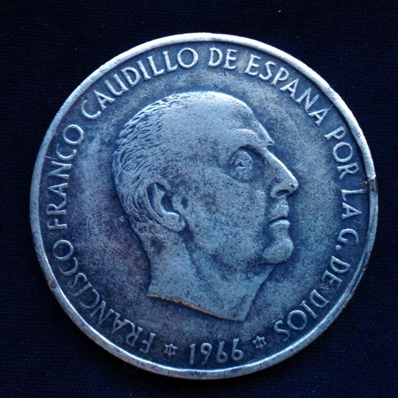 100 pesetas 1966 Image