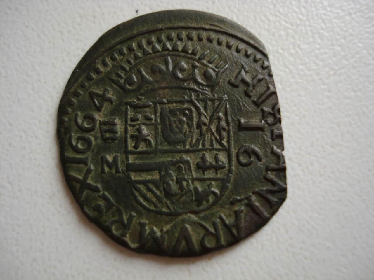 16 maravedís de Felipe IV, Valladolid, 1664. Monedas_018