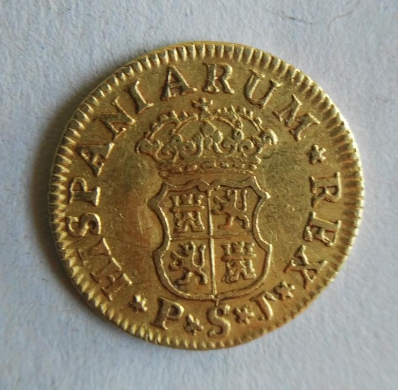 1/2 escudo Fernando VI 1750 Sevilla PJ Durilloblb