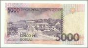 5000 Dobras 2004 Santo Tomé y Principe. 5000_dobras_S_Tom_2004_rever