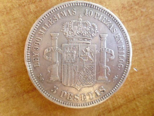 I aniversario numismario: 5 pesetas 1871 18-74 Amadeo I P1100939
