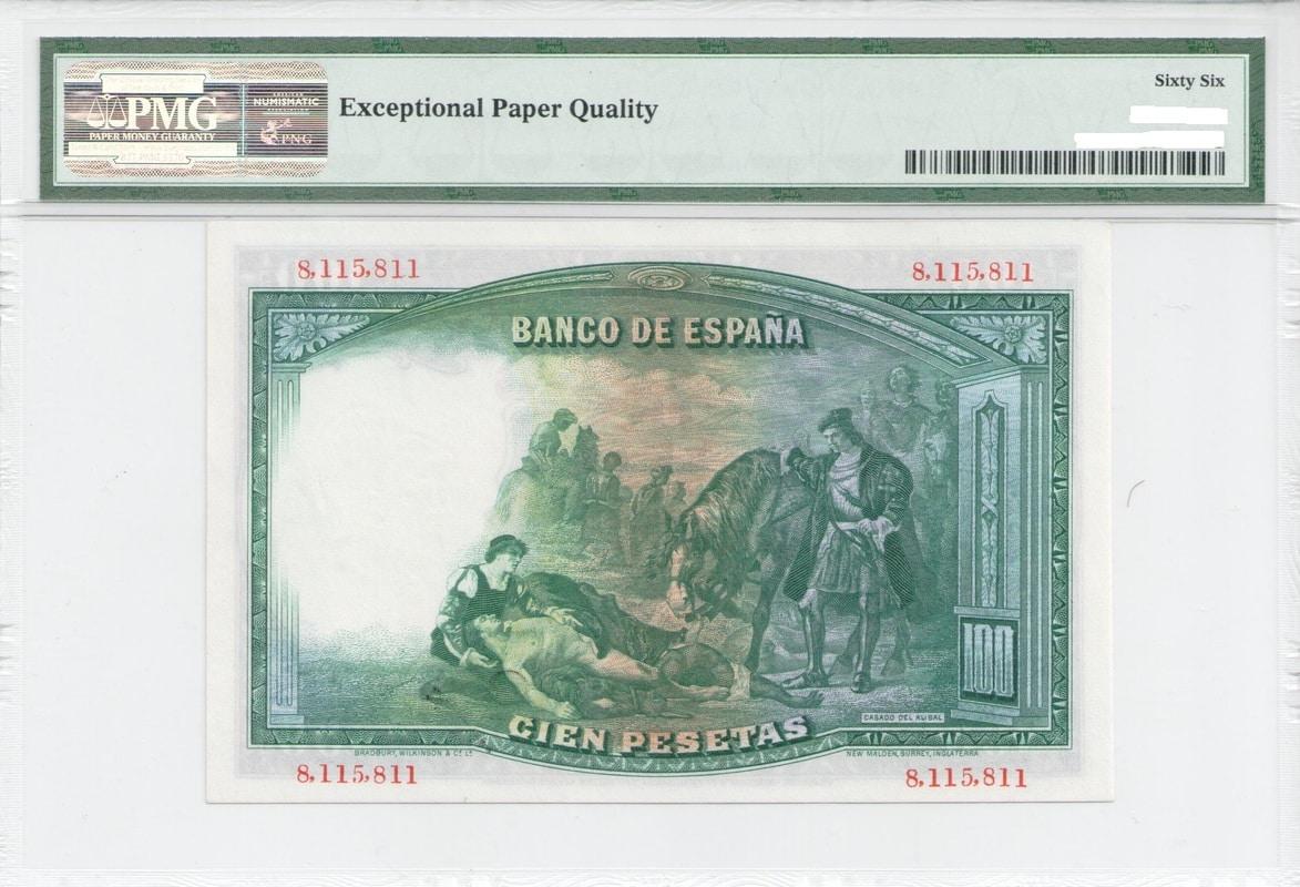Colección de billetes españoles, sin serie o serie A de Sefcor - Página 3 100_del_31_reverso