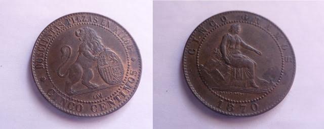5 céntimos de 1870. Gobierno Provisional IMG_3062