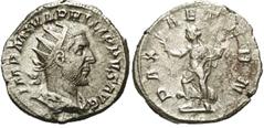 Antoniniano Filipo I. PAX AETERN. Ceca Roma. Paz_avanzando