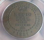 1/2 Real 1851. Isabel II. Segovia. IMG_3853
