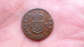 1 maravedi 1830 Fernando VII -Pamplona SAM_0665