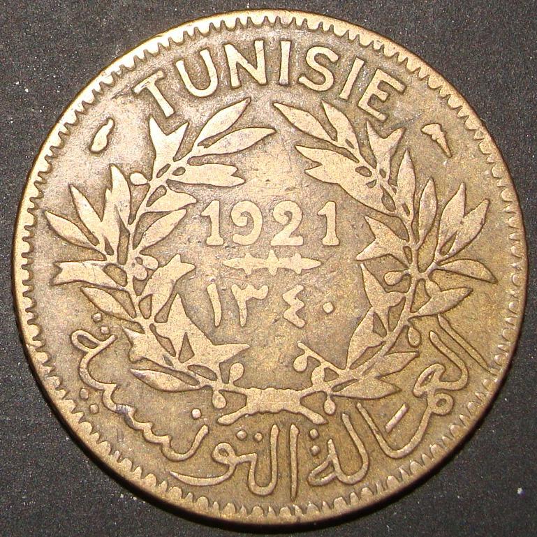 1 Franco. Túnez (1921) TUN_1_Franco_1921_anv
