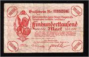 100000 Marcos Alemania 1923 (Billete de necesidad de la Compañía Bayer) Bayer1