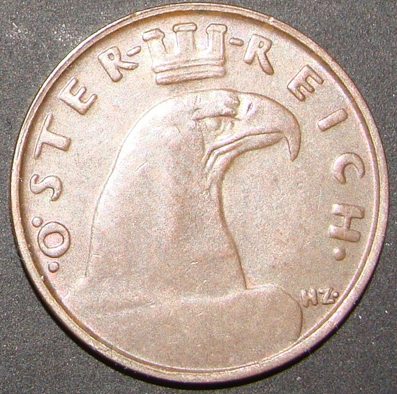 austria - 1 Groschen. Austria (1932) AUT_1_Groschen_1932_anv