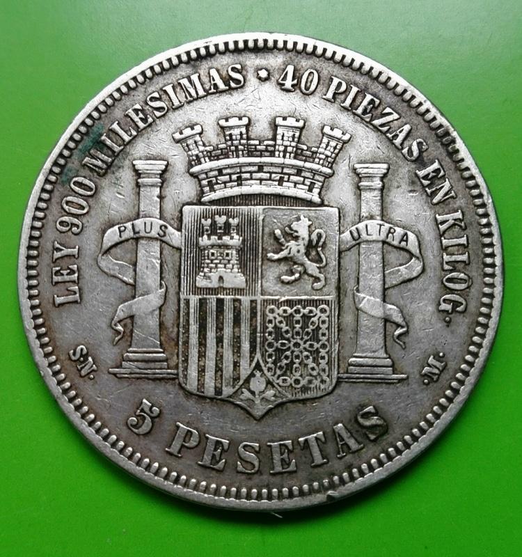 5 pesetas 1870. Gobierno Provisional IMG_20161210_135255