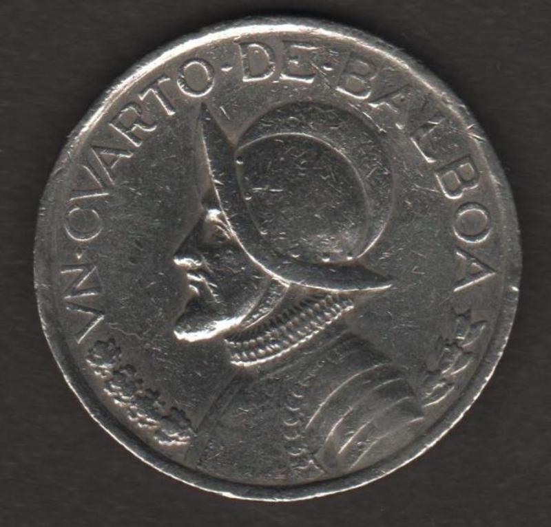 MONEDA DE 1/4 DE BALBOA - PANAMA 1993 ANVERSO_UN_CUARTO_DE_BALBOA