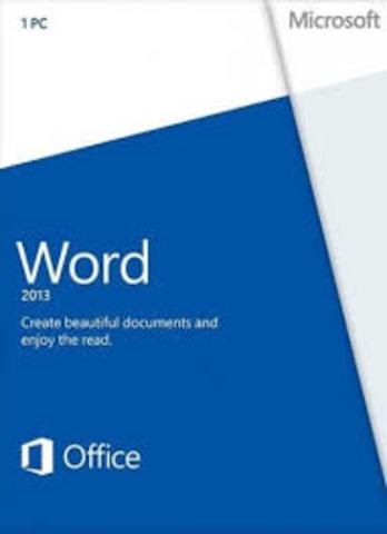 Microsoft Word 2013 SP1 15.0.4667.1000 151203 Image