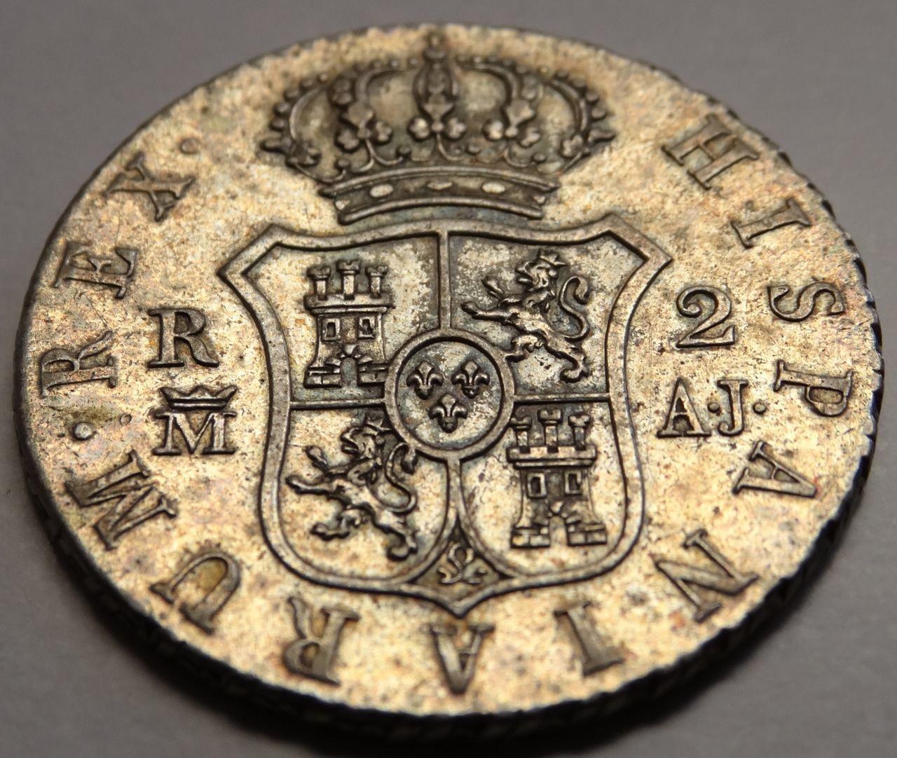 2 reales 1831 Madrid AJ, Fernando VII DEDICADA A Flekyangel 2_reales_reverso_1813