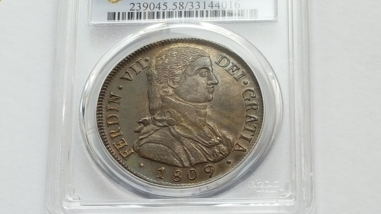 8 reales 1809  Fernando VII  Chile 20160202_143521