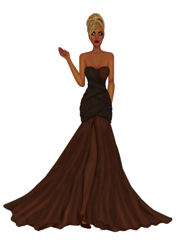 Another long gown. Browncopperdress_long_gown_outfit