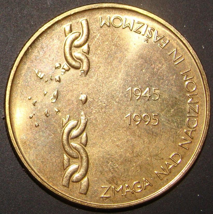 5 Tolar. Eslovenia (1995) SLO_5_T_lar_50_Aniv_victoria_contra_fascismo
