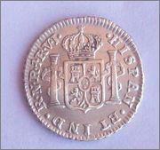 Medio real de Carlos III, Nuevo Reino. 1772. 102_2408