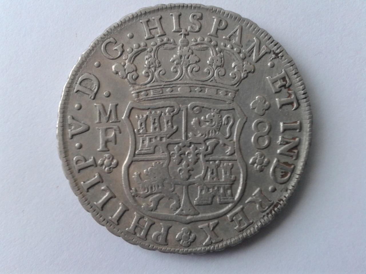 8 reales tipo columnario de Felipe V, México. 1741. 20141104_152221