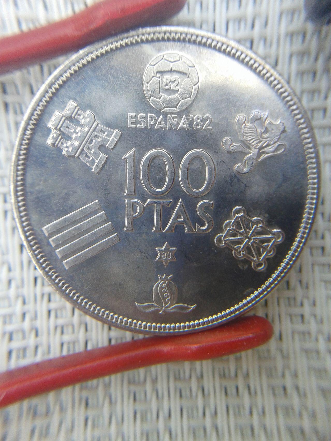 100 pesetas 1980*80 ¿hubo alguna acuñación especial? 100pts_1980_80_reverso_normal