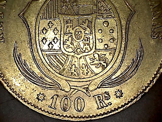 100 reales 1859 Isabel II - Barcelona 14022302564651810100