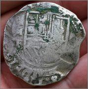 8 reales macuquinos. Felipe III. Méjico. MF (1607-1617) Studio_20160125_140500