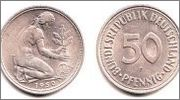 50 Pfenning 1950G Alemania ¿rareza? Image
