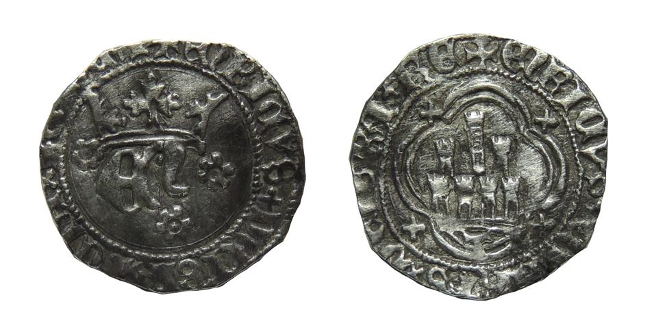 Medio real de Enrique IV (1454-1474) de Toledo Enrique_1_5g_21mm