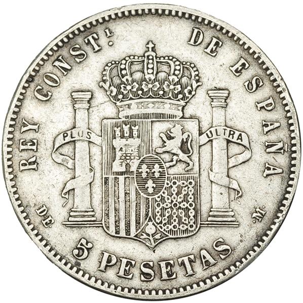 5 pesetas 1879 buena y mala 3495r