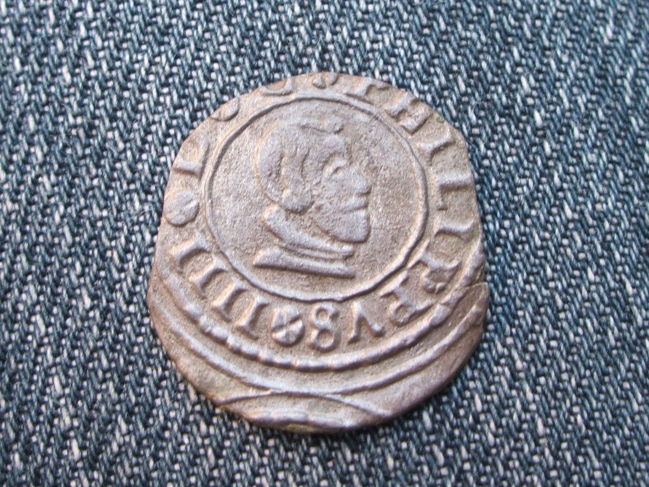 8 Maravedís Felipe IV. 1664. Madrid. Plateado original. 029