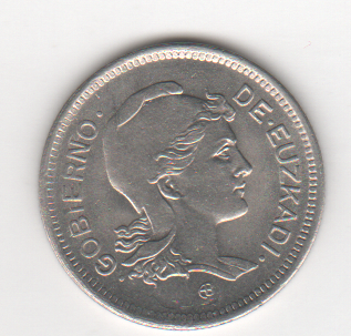 1 peseta de Euzkadi 1937 (defectos) Euzkadi_a
