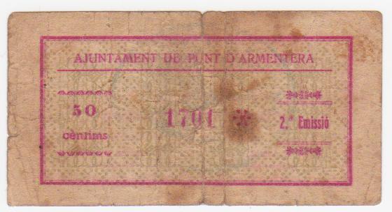 50 Céntimos Pont D´Armentera, 1937 Pont_de_armentera