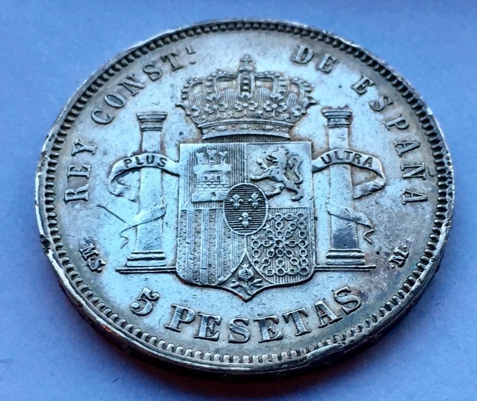 5 pesetas 1878. Alfonso XII IMG_8063