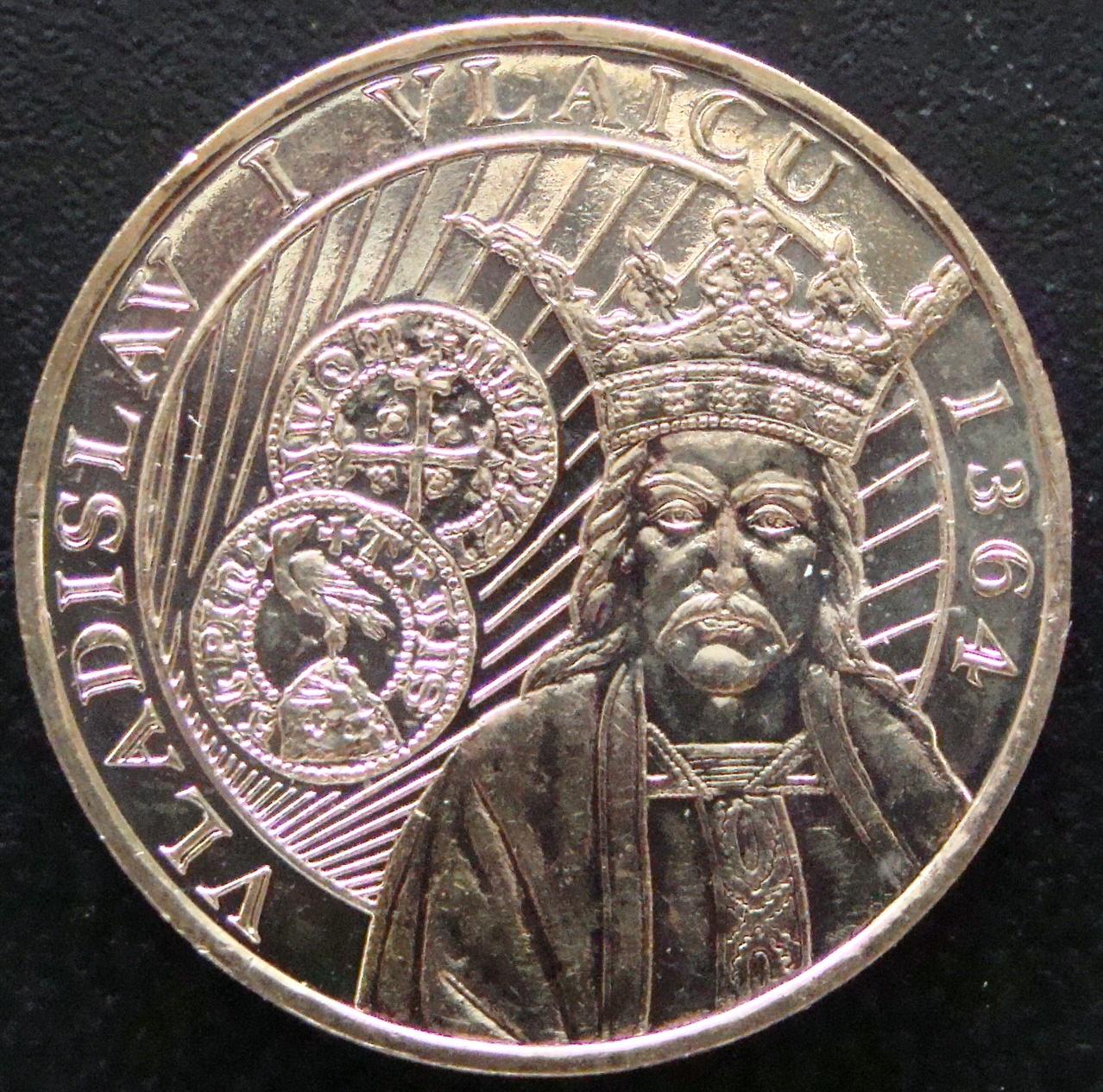 50 Bani. Rumania (2014) Vladislav  RUM_50_Bani_Vladislav_I_Vlaicu_rev