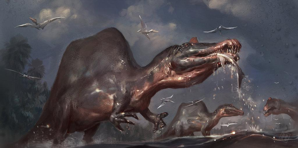 Awesome Paleoart  Spinosaurus_a_by_raph04art-db0x1vs