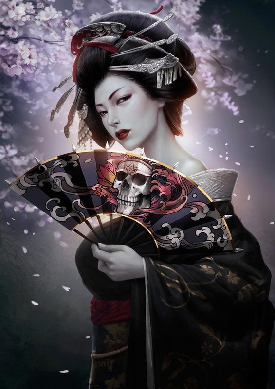 Abanicarse es un arte - Página 5 2_D-_Art-_Rike-_Lee-_Geisha