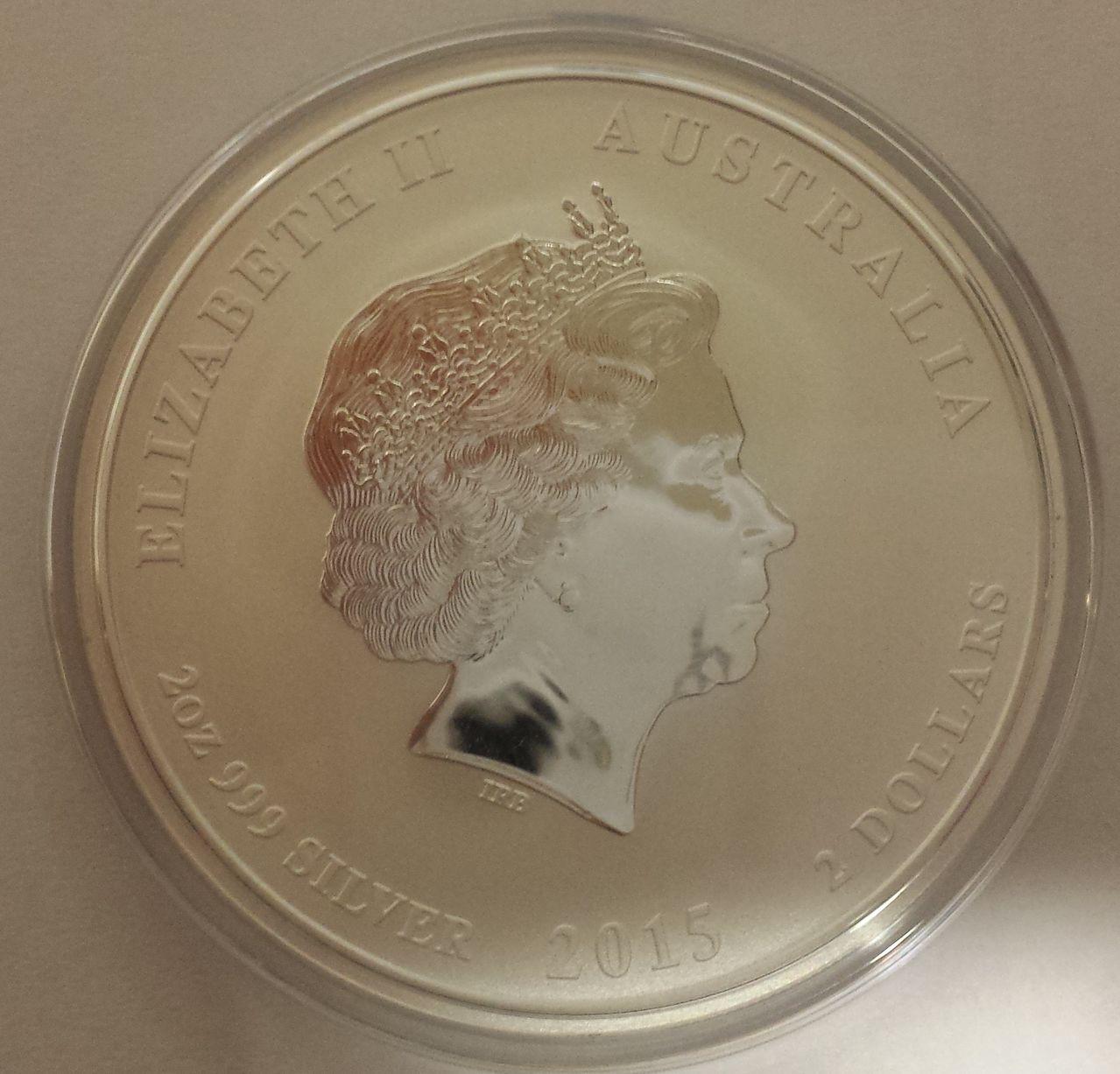 2 onzas plata Australia 2015 (2 dolares-año de la cabra) 20150107_200530
