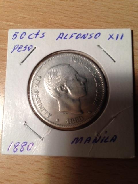 50 centavos 1880 Manila Foto_1