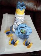 Скрапбукинг. Голубой мак, карандашница или декорваза для сухоцветов. 1_DSCF1966