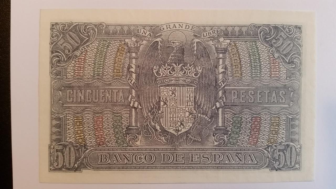 Colección de billetes españoles, sin serie o serie A de Sefcor pendientes de graduar 20161217_121930