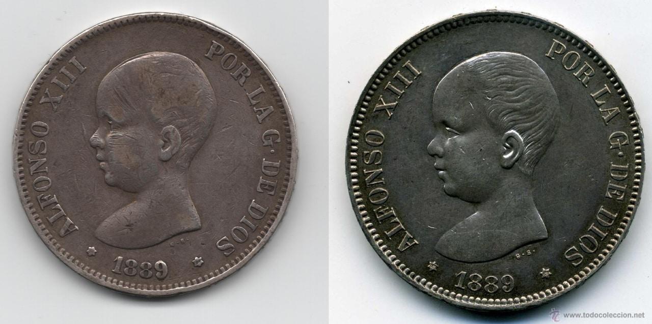 5 pesetas de 1889. Alfonso XIII Imagen_4_v