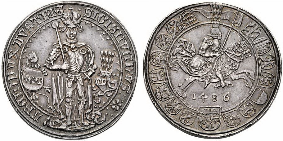 Monedas ecuestres Guldiner_1486_Austria