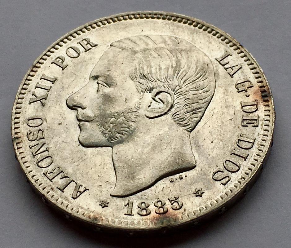 5 pesetas 1885 (*18-87). Alfonso XII IMG_8336